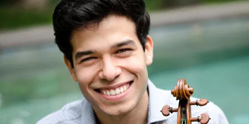 Image of Ruben Rengel with violin